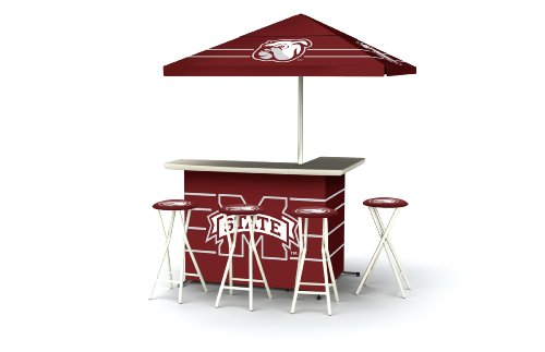 Best of Times Collegiate Patio Bar and Tailgating Center Deluxe Package- Mississippi State ()