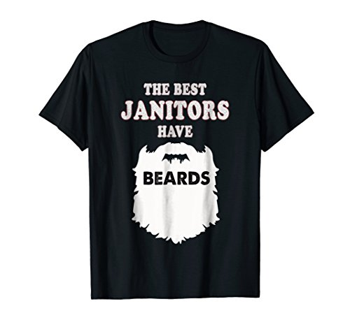 Janitor beards gift t-shirt, custodian cleaner (Janitor Costume Ideas)