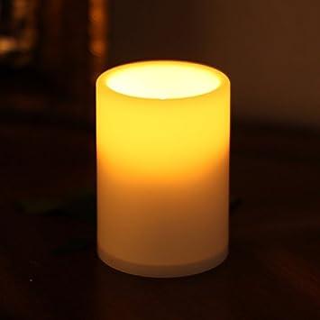 Kerzen Für Draußen.Giveu Flammenlose Led Kerze Für Draußen Batteriebetrieben Aus Kunststoff Elfenbeinfarben Pack 1