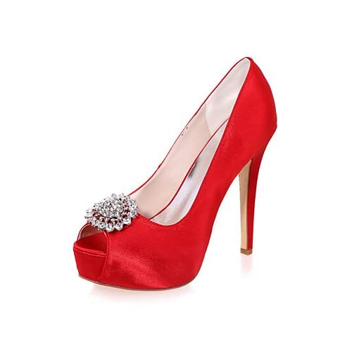 0ebed69ce1 De bajo costo El mejor regalo para mujer y madre Mujer Zapatos Satén  Primavera Verano Pump Básico ...
