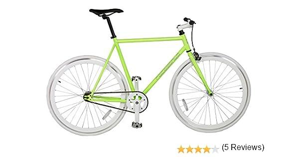 Rocasanto Bike - Bicicleta Fixie v, tamaño 51, Color Verde/Blanco: Amazon.es: Deportes y aire libre