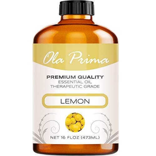 16oz - Premium Quality Lemon Essential Oil (16 Ounce with Dropper) Therapeutic Grade Lemon Oil