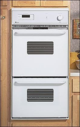 electric double wall oven with precision cooking system finish white