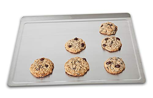 360 Cookware Stainless Steel Bakeware, Large Cookie Baking Sheet, American Made, Lasts a Lifetime, Use as a Baking Pan, Roasting Pan or Pizza Pan. Professional Grade 18 Inch x 14 Inch
