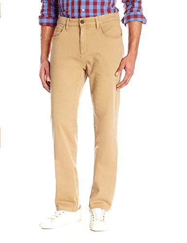 (Goodthreads Men's Athletic-Fit 5-Pocket Chino Pant, Khaki, 29W x 34L )