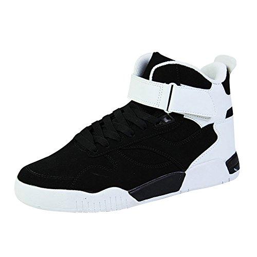 SGoodshoes Hombre Zapatos para Correr High Top zapatillas deportivas Libre y Deportes Zapatillas Negro