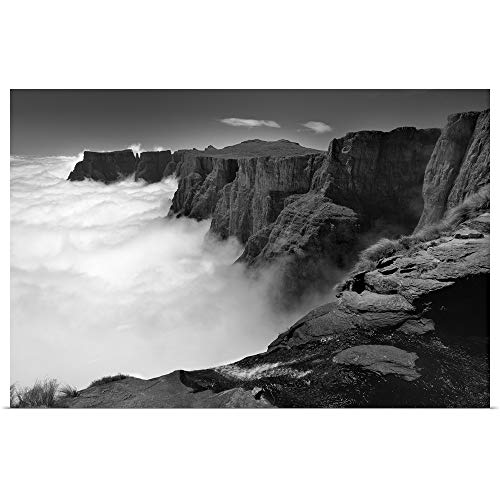 GREATBIGCANVAS Poster Print Entitled Amphitheatre Range Drakensberg uKhahlamba National Park, Kwazulu-Natal, South Africa by 18