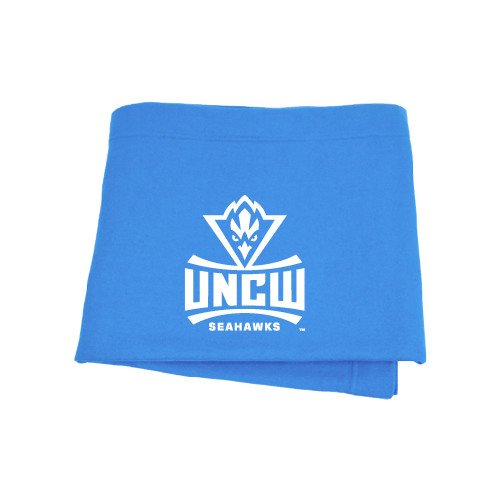 CollegeFanGear UNC Wilmington Light Blue Sweatshirt Blanket 'Official Logo' by CollegeFanGear
