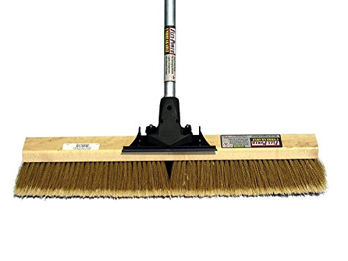 FlexSweep Flex-Power Unbreakable Commercial Push Broom (Contractors 24 Inch) Medium Bristles Multi Surface