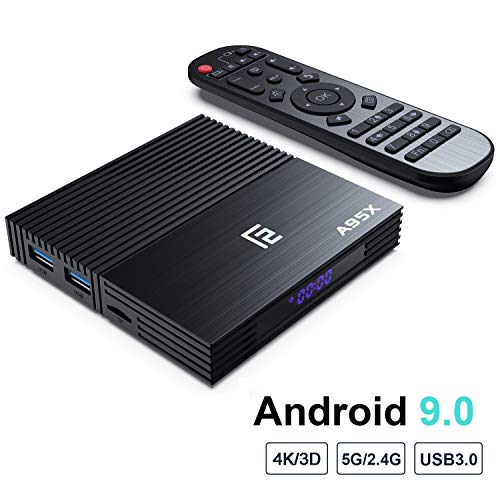 Android 9.0 TV Box,F2 Smart TV Box 4GB RAM 64GB ROM Amlogic S905X2 Quad Core 64bit,Support 2T2R Dual Band WiFi 5G 2.4G/HDR 3D 4K@60fps,Ultra HD/USB 3.0 HDMI 2.1 BT 4.2 (F2(4+64))