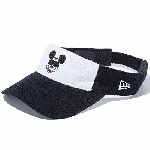 Disney×New Era ディズニー×ニューエラ サンバイザー ゴルフ シークインド ミッキー ホワイトパイル ブラックパイル ホワイトパイル オフィシャルカラー スノーホワイト 11404352