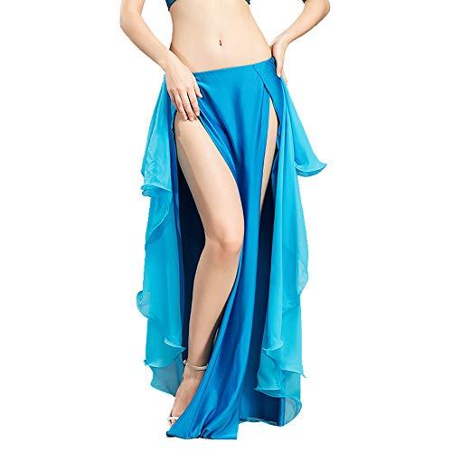 ROYAL SMEELA Belly Dance Costome Jupe Belly Dance Femmes Filles en Mousseline de Soie Jupes Brief lgante en Mousseline Danse Costumes Vtements bleu clair