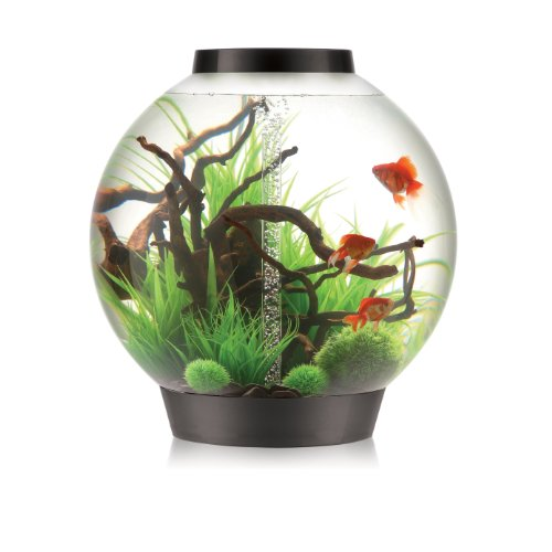biOrb CLASSIC 105 Aquarium with Intelligent LED Light – 28 Gallon, Black