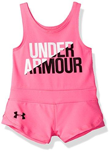 Under Armour Baby Girls' Romper, Pink Punk, 6-9M