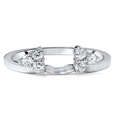 Amazon 25ct Diamond Guard Ring Wrap Enhancer Womens Wedding