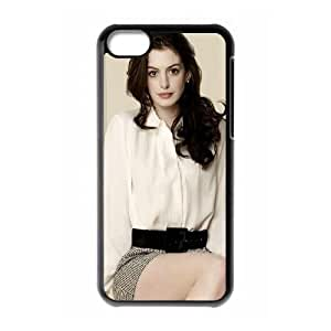 Celebrities Anne Hathaway iPhone 5c Cell Phone Case Black phone component AU_475774