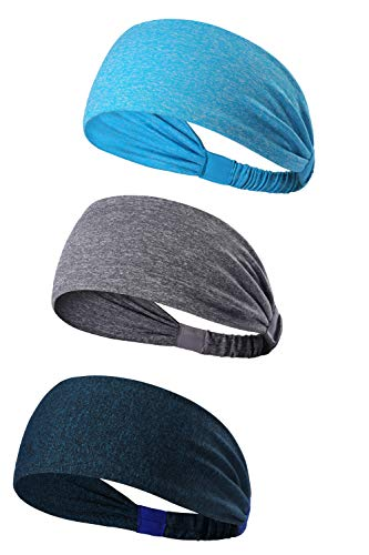 0abd80e11b9 3PACK Women Sports Headband Non-slip Sweat Band - Stretchy Bandana Headwear  - Best for Running Cycling Hot Yoga and Athletic Workouts - Fashion Elastic  Hair ...