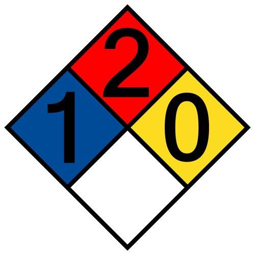 compliancesigns-vinyl-nfpa-704-hazmat-diamond-label-with-1-2-0-0-rating-10-x-10-in-multi-color