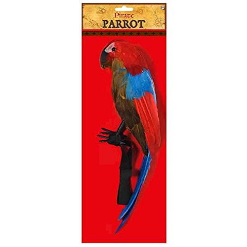 Notorious Pirate Party Parrot Accessory, Multi, Plastic , 18 1/2