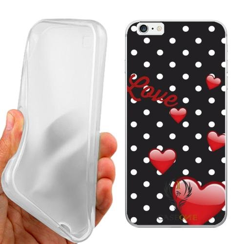 CUSTODIA COVER CASE LOVE HEART POIS PER IPHONE 6 PLUS