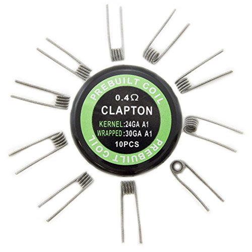 EX ELECTRONIX EXPRESS Pack of 10 pre-Built Clapton Coil Wires for D.I.Y. Projects (Best Coil For Flavor)