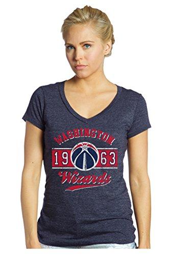 fan products of NBA Washington Wizards Women's Premier Triblend Modest V-Neck Tee, Medium, Navy
