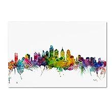"Trademark Fine Art Philadelphia Pennsylvania Skyline Canvas Art by Michael Tompsett, 22 x 32"""