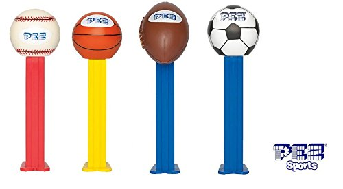 Pez Sports Dispensers (Pack of 12)