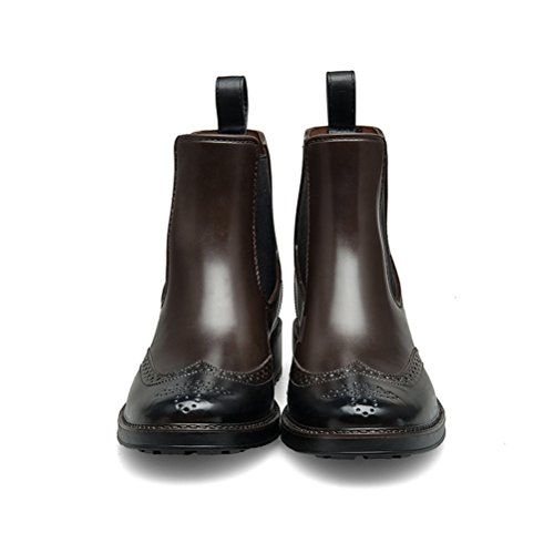 Rainboots Ankle Fashion Boots Waterproof Brown TONGPU Women vp5qSS