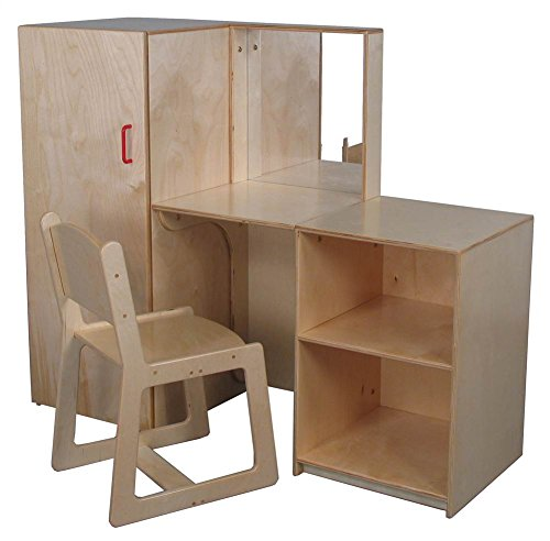 Mainstream Preschool Vanity with Cabinet (Preschool) by Strictly for Kids