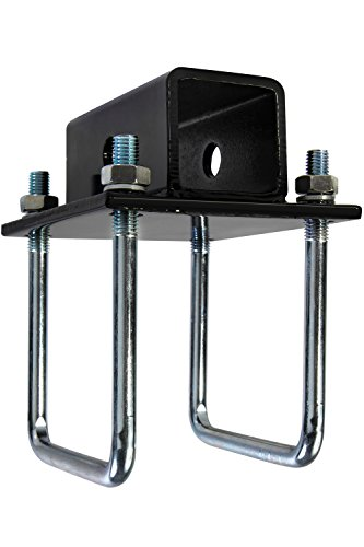 4x4 Hitch (OxGord RV Bumper Bike Rack Carrier Receiver Adapter for 4 Square RV Bumpers Rust)