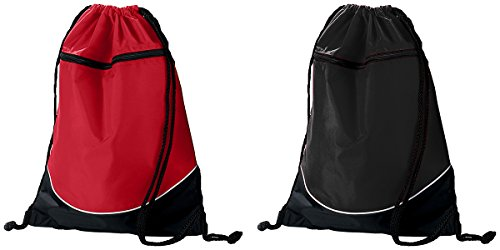 Augusta Sportswear tri-color drawstring Backpack - All Colors Available -