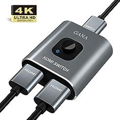 HDMI Switch 4k HDMI Splitter-GANA Alumin...
