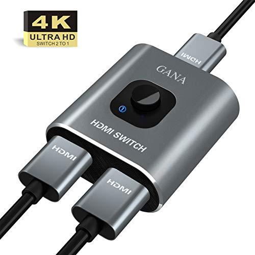 41aUX3 p3ZL. SS500 Haz clic aquí para comprobar si este producto es compatible con tu modelo Nuevo interruptor bidireccional GANA HDMI de metal. Puede conectar dos fuentes HDMI a una pantalla HDMI o conectar una fuente HDMI para cambiar entre las dos pantallas. (Nota: 2 monitores no se pueden mostrar al mismo tiempo.) 【Plug & Play】:no se requiere un controlador externo, simplemente presione el botón en la Conmutador HDMI para seleccionar la señal de host o pantalla. Portátil y flexible. Proporciona procesamiento avanzado de señal con alta precisión, color y resolución.