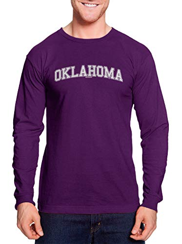 Oklahoma - State School University Sports Unisex Long Sleeve Shirt (Purple, Large)