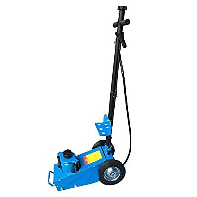 22 Ton Air Hydraulic Floor Jack Lift w/Wheel Car Truck Service Repair Lifting Tool Blue