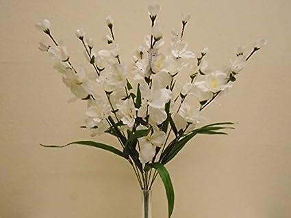 Amazon cream gladiolus bush 9 artificial silk flowers 25 cream gladiolus bush 9 artificial silk flowers 25quot bouquet 8009cr mightylinksfo