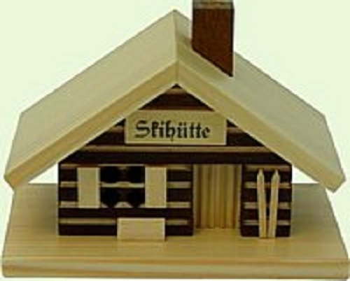 Ski Hut Cabin German Christmas Incense Smoker Handcrafted in Erzgebirge Germany Deluxe Incense Display