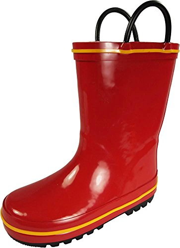 NORTY - Boys Waterproof Rainboot, Red, Yellow