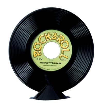 Plastic Record Centerpiece Party Accessory (1 count) (1/Pkg)