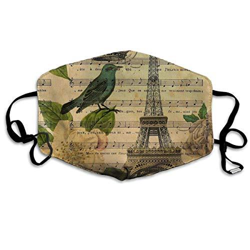 (Liayai7. Anti Dust Mask Vintage Paris Eiffel Tower,Surgical Mask Winter Healthy Warm for Boys Halloween Mouth Masks)