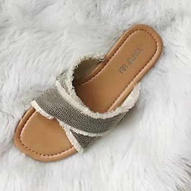 1In Pu Flat Women'S Under Heel Silver Comfort RTRY Soles 5 UK5 EU38 Sandals Light 5 Soles Summer Spring CN38 Comfort Dress Light US7 Gold XFxxwTqd7