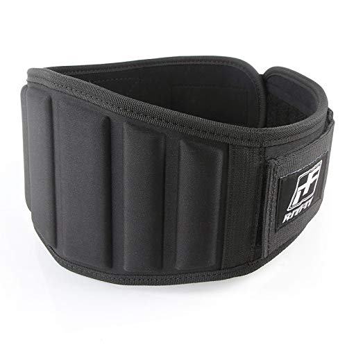 (RitFit Weight Lifting Belt - Great for Squats, Clean, Lunges, Deadlift, Thrusters - Men and Women - 6 Inch - Multiple Color Choices - Firm & Comfortable Lumbar Support (Black Pro, S(22-29'')))