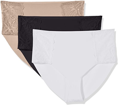Madeline Kelly Women's 3 Pack Micro Laser Cut Brief Panty with Back Detail