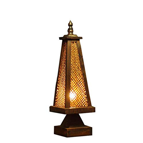 XZLIGHT Table Lamp, Thai Style Bamboo Lamp Bedroom Bedside Lamp Antique Creative Table Lamp Lamp Lighting