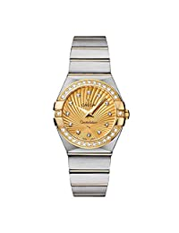 Omega Constellation Diamond Yellow Gold Dial Two-Tone Steel Ladies Watch 12325276058001