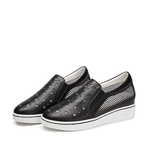 Zapatos ocasionales de las mujeres/Hueco gruesa en el extremo de la zapata/Zapatos de aumento de altura/Mocasín/Pie plano zapatos B