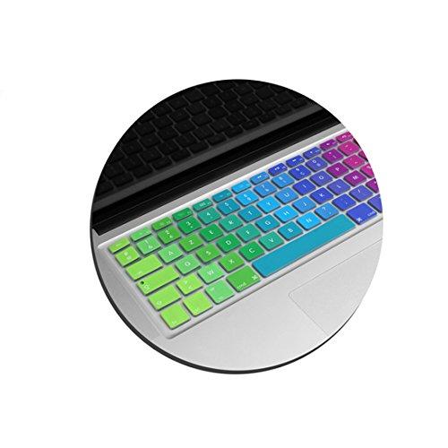 Sistema de S Silicona Protector de teclado teclado AZERTY franc/és protectora del teclado protector para MacBook Pro 13/15 17/pulgadas iMac MacBook Air 13/pulgadas en colores del arco iris...