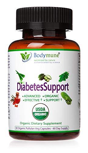 Natural Diabetes Support | Diabetes Health Pack Optimal Nutrition I Diabetes and pre-Diabetes Supplement by Bodymune | 2 Month Supply | Organic Moringa Nopal Aloe Vera Triphala Papaya | Vegan Omega