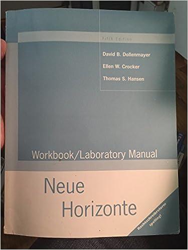 Book Neue Horizonte: Workbook/Laboratory Manual